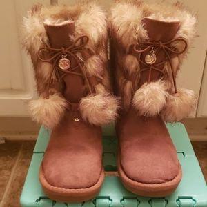 "Michael Kors fuzzy suede boots ""Alyona"""